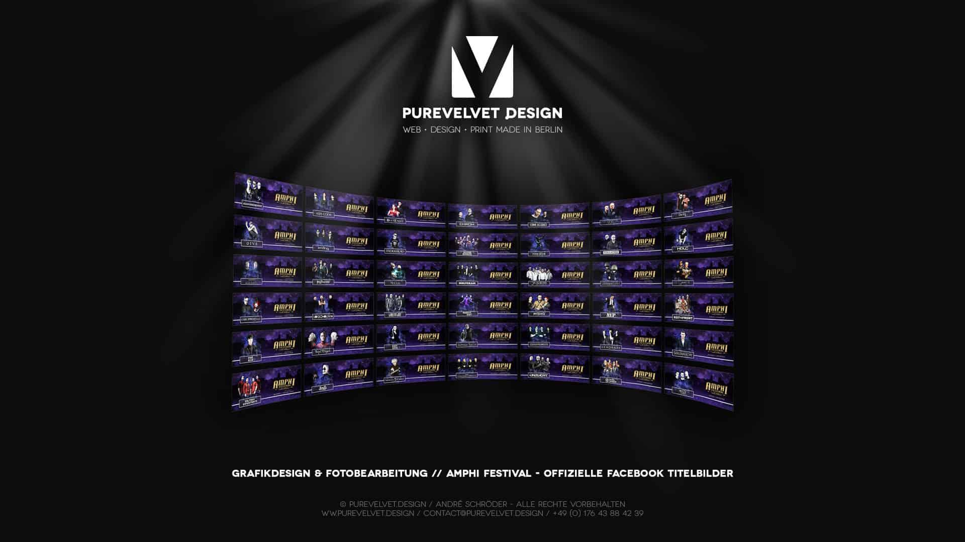 Grafikdesign Referenz - Amphi Festival 2020 - Facebook Titelbilder