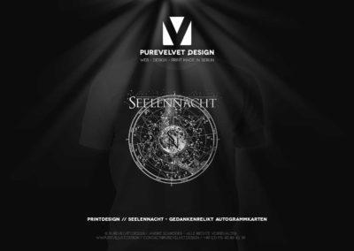 Printdesign Referenz - Seelennacht Shirt-Design
