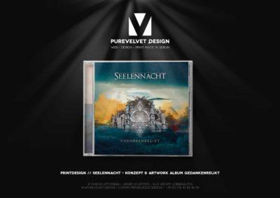 Printdesign Referenz - Seelennacht - Gedankenrelikt Jewelcase CD Artwork