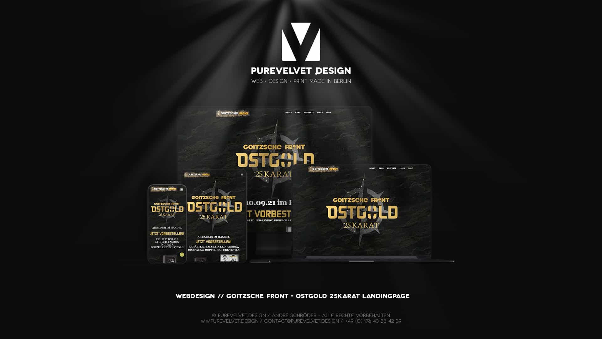 Webdesign Referenz - Goitzsche Front - Ostgold 25Karat