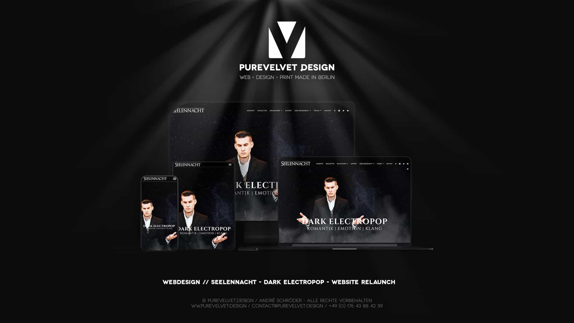 Webdesign Referenz - Seelennacht - Dark Electropop