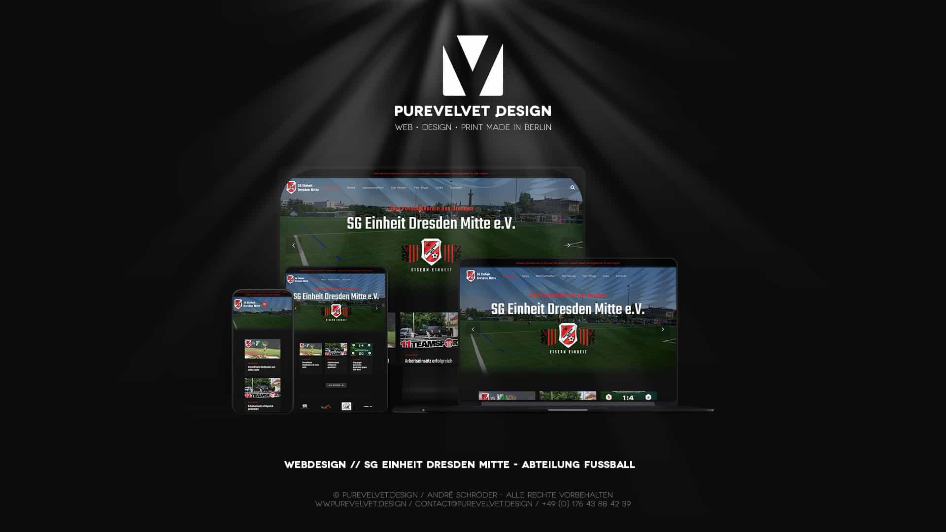 Webdesign Referenz - SG Einheit Dresden Mitte e.V. Fussballverein